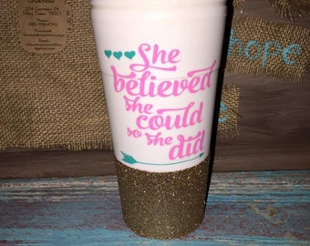Glitter Coffe Cups and Workout Set