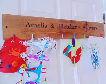 Personalised kids art display board