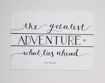 The Greatest Adventure - Original 5x7 artwork