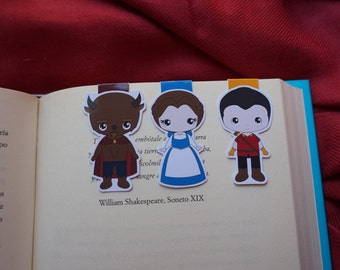 Magnetic bookmarks - Beauty and the Beast II