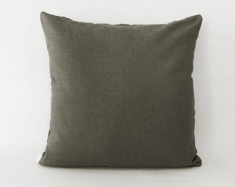Throw pillow - Decorative pillow cover - Accent pillow cover - green Linen pillow - Solid pillows - Organic linen cushion covers