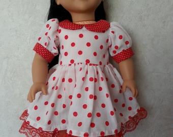 Red Polka-Dot Dress