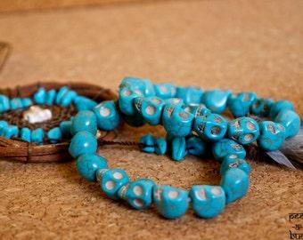 Turquoise Skulls Bracelet