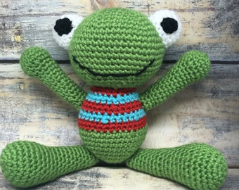 MADE TO ORDER: Crocheted Frog