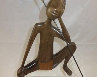 Hagenauer African seated Figure !950's Tribal range