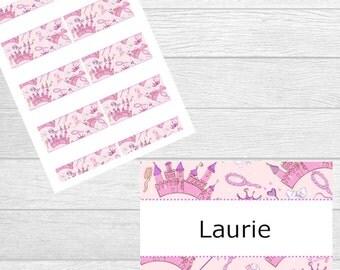 Printable Princess Name Tags