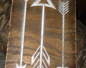Custom Wood Arrow Sign