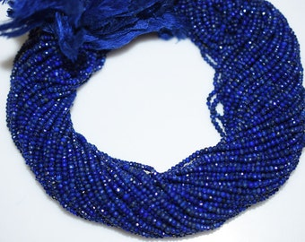Good Quality Lapis Rondelle Beads 13 Inch Strand ,Lapis Faceted Rondelle Beads , 2.50-3 mm - MC331