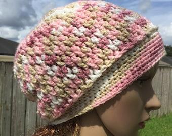 Crochet soft slouchy hat, slouchy hat