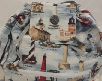 Lighthouse drawstring backpack