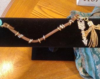 Latigo charm bracelet