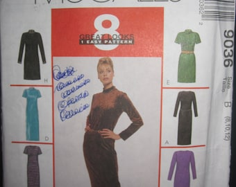 Pattern Mc Calls 9036 8 models of dress for Lady.  size 8-10 years
