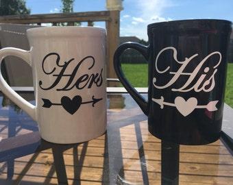 His and Hers Coffee Mugs