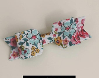 Double Hair Bow - Floral Ditsy - Handmade, Limited Edition