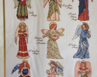 Angels Through the Years counted cross stitch kit , Needle Treasures sealed
