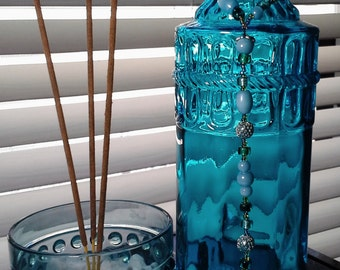 Blue Island Skies Incense Burner/ Smoking bottle