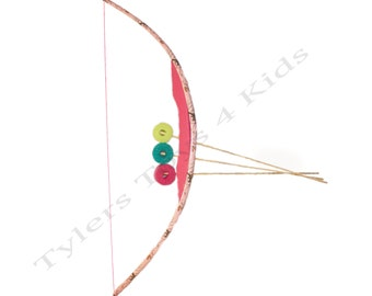Pink Camouflage PVC Bow and Arrow Set, 1 Bow & 3 Arrows
