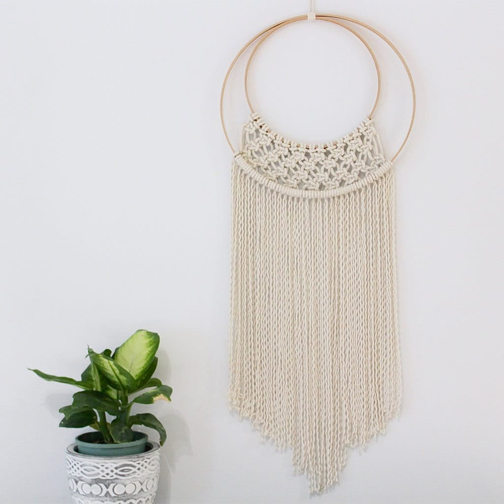 Large hoop macrame wall hanging for Wall hanging