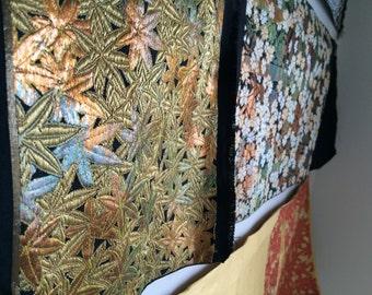 KIMONO/JAPANESE/Antique Silk Japanese kimono pattern /Kimono fabric /so much clothes