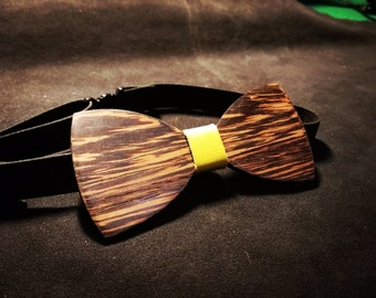 Papillon in wood, wood stained