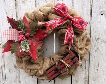 Christmas Wreath, Christmas, Christmas Decor, Door Hanger, Wreath