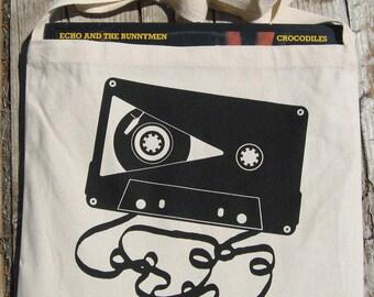Cassette & Vinyl Combo Messenger Tote Bag