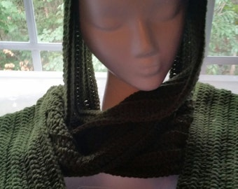 Forest green scarf - no fringe