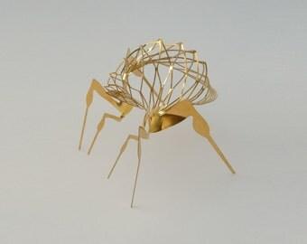 Modern Metal Artwork of Bug, Pair of 2 pcs, Metal art by Expand Life