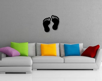 Pair of Feet Decorative Wall Art