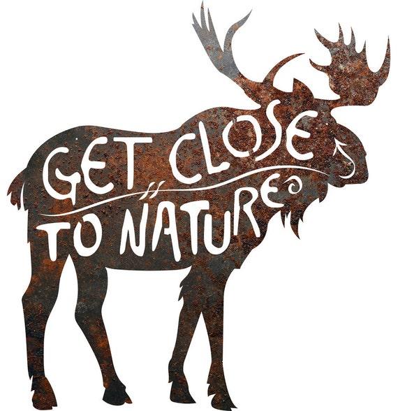Rustic home decor moose get close to nature metal for Home decor close to me