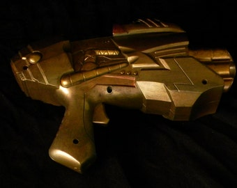 Steampunk Gun - Bold Gold - small cosplay weapon - artists Don and Janet Beasley
