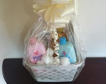 Baby accessories gift basket