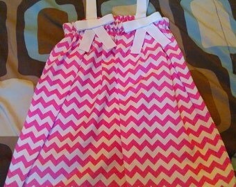 4T pink Chevron dress