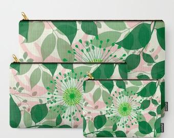 Summer Greenery-Carry All Zipper Pouch -Set of 3