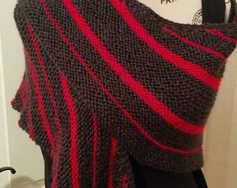 Shawl / asymmetrical scarf