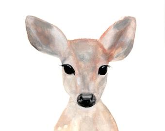 Fawn Watercolor Giclee Art Print