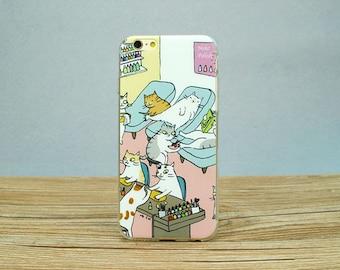 Shell case iPhone 6 / 6s Salon nail iPhone box Nail Salon