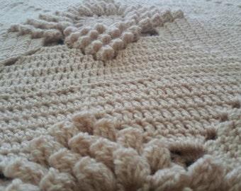 Retro crochet throw