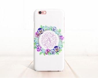 Monogram iPhone case, floral iPhone 6s, monogram iPhone 6s plus cases, personalized iPhone 6 Plus case/6 case, 3D iPhone case