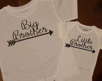 Big Brother shirt, little brother onesie, Big Brother, Little brother shirt set. Big Brother, Little Sister, Big Brother, Little Sister