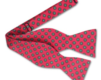 Pink and Green Bow tie, Mens Bow tie
