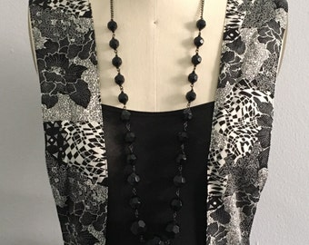 Awesome VINTAGE Nina Piccalino Floral Jumper dress - Black / White