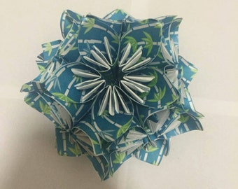 Paper kusudama flower ball made from origami paper
