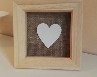 Handmade love heart frame