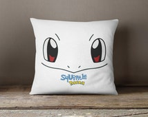 Pokemon Throw pillow, squirtle, kids pillow cover, cute decorative pillow cover, funny throw pillow, kids bedroom pillow, colorful pillow