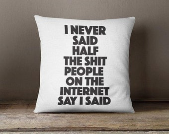 quote throw pillow, printed pillow cover, black and white cushion cover, teens pillow case, decorative pillow case, teens bedroom decor P298