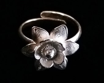 Sterling Silver Ring Flor, Filigree Ring, Filigree Jewelry, Filigrana, Silver Ring, Flower Ring, Floral Ring, Adjustable Size, Gift Idea