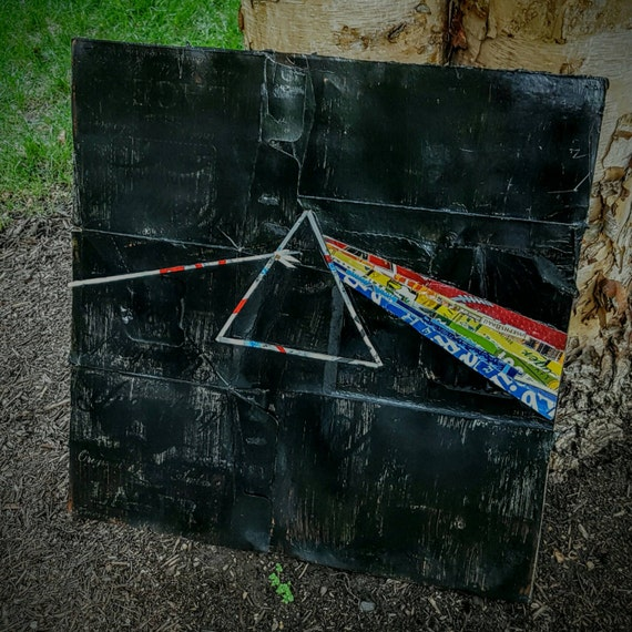 Dark side of the moon beer wall art by thebrinery on etsy for Dark side of the moon mural