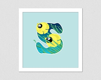 Animal Alphabet Letter S Fish