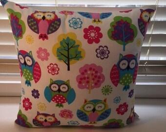 Owl themed cushion 45cmx45cm